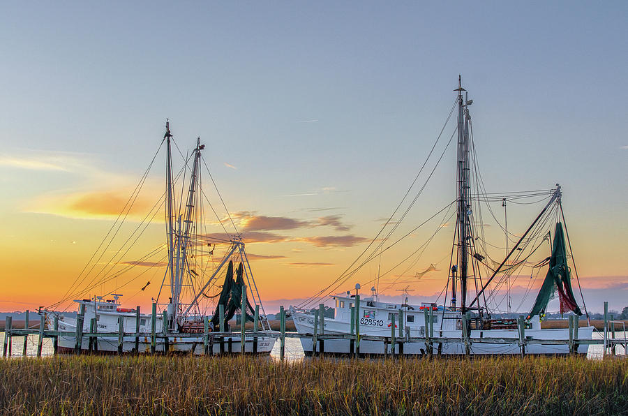 Abandoned Photograph - Shrimp Boats by Drew Castelhano