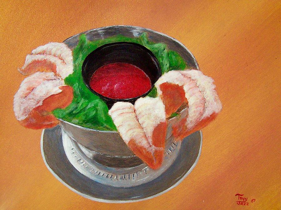 Food Painting - Shrimp Cocktail by Tony Rodriguez