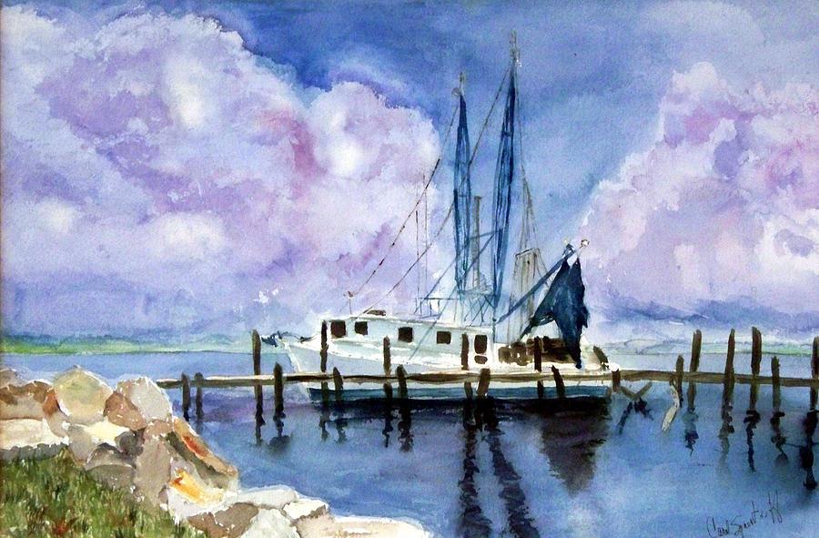 Shrimpboat Painting - Shrimpboat by Carol Sprovtsoff