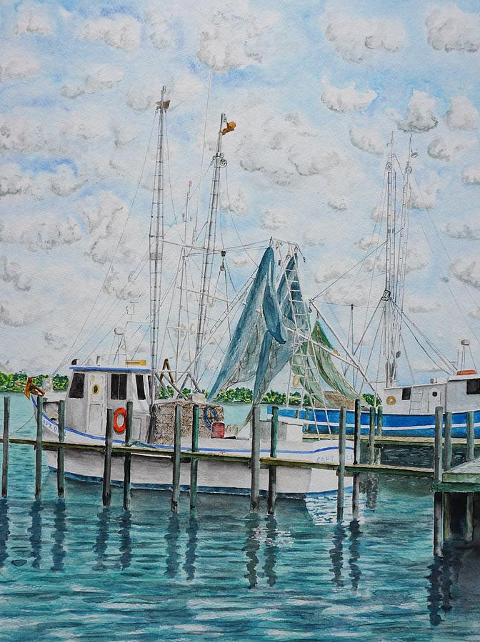 Shrimper No.3 Painting by Gary Thomas