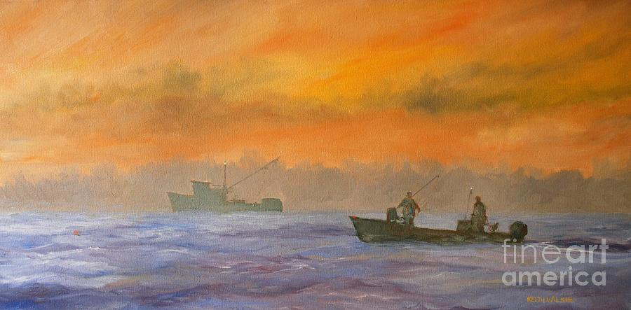 Shrimping Sunrise by Keith Wilkie