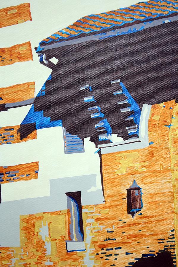 Shrine Painting - Shrine Corbels Detail by Sheri Buchheit