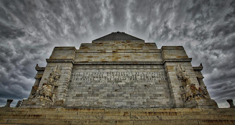 Shrine Photograph - Shrine of Remembrance by Ross Henton