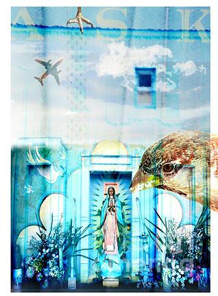Shrine Digital Art - Shrine To Our Lady Of Perputual Conversation by Marti Wedewer