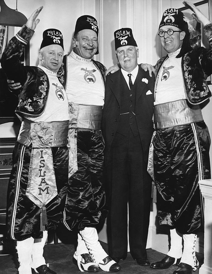 1930s Photograph - Shriner James Rolph by Underwood Archives