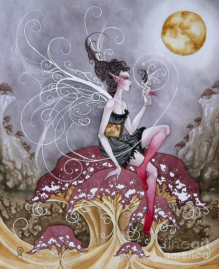 Faery Painting - Shroom Faery by Ora  Moon