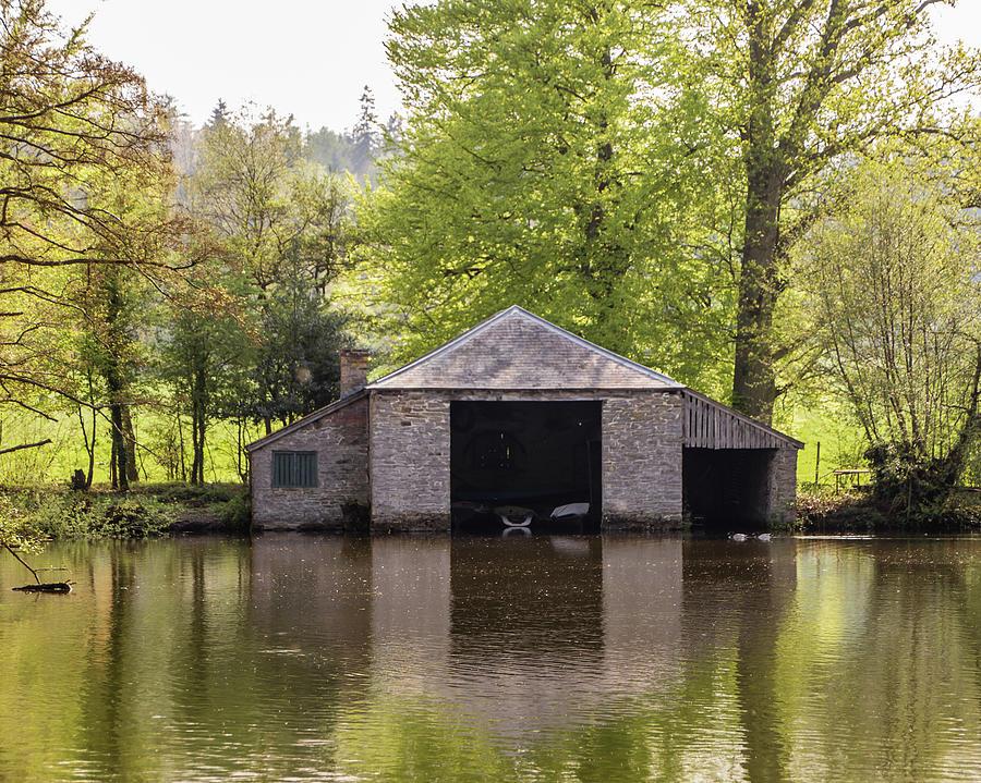 Boathouse Photograph - Shropshire Boathouse by Edward Burchnall