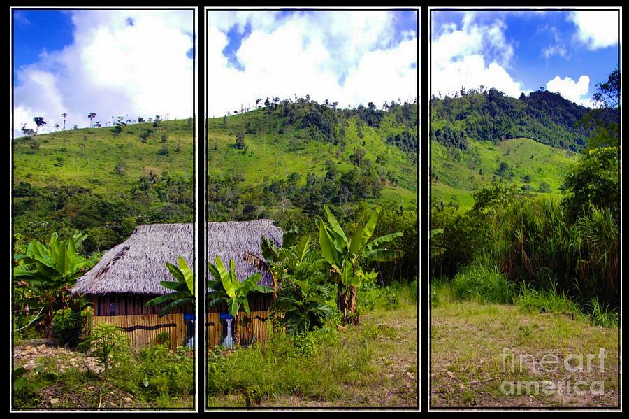 Shuar Photograph - Shuar Hut In The Amazon by Al Bourassa