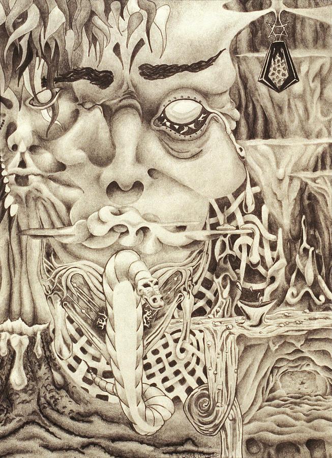 Dragon Drawing - Shudders by Sean Imler