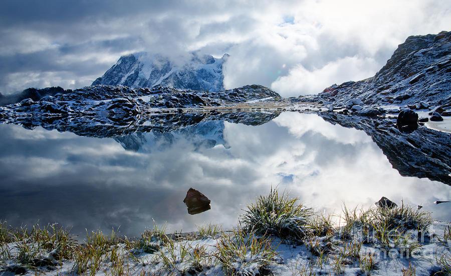Mt. Shuksan Photograph - Shuksan In Fog by Idaho Scenic Images Linda Lantzy