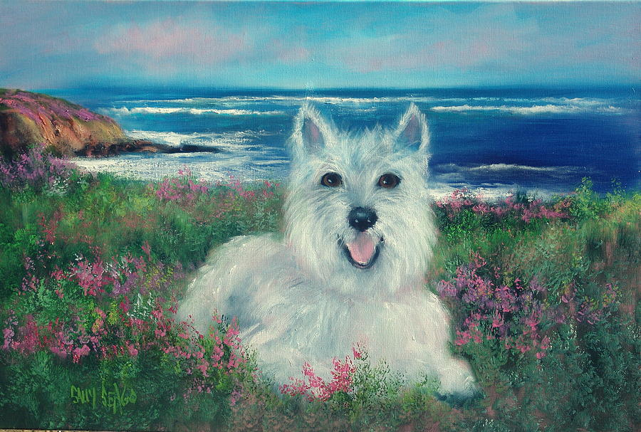 Animals Painting - Shultzi by Sally Seago