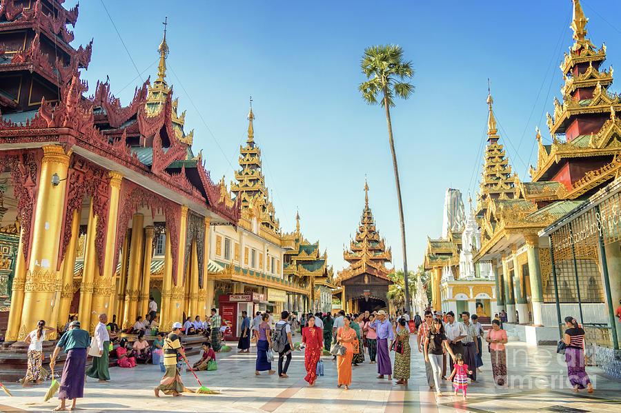 Burma Photograph - Shwedagon Pagoda by Louise Poggianti