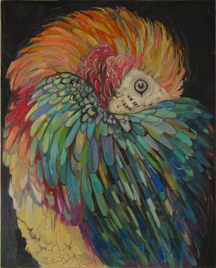 Parrot Painting - Shy by GALA Koleva
