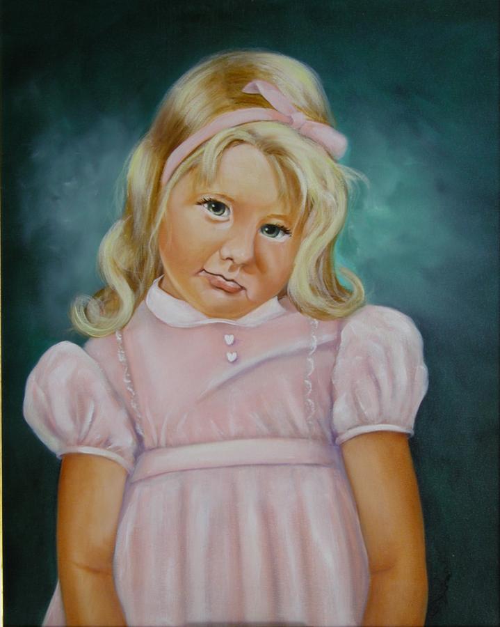 Portrait Painting - Shy by Joni McPherson