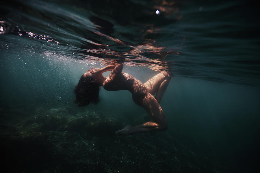 Swim Photograph - Shyness by Gemma Silvestre