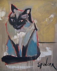 Cat Painting - Siamese by Scott Spencer