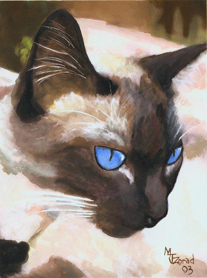 Siamese Cat by Mary Jo Zorad