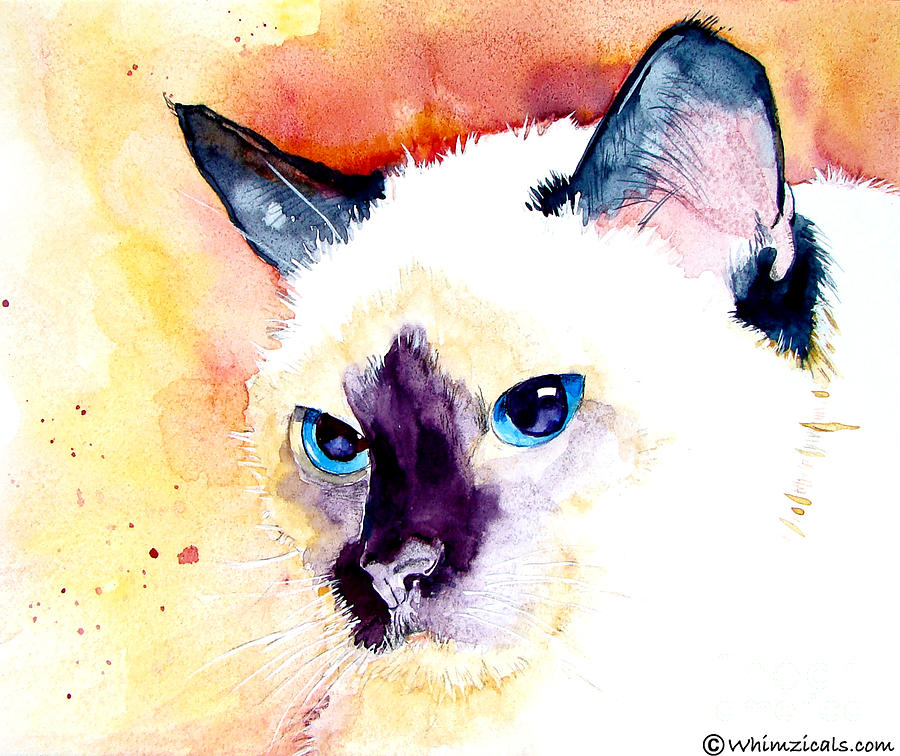 Siamese Painting - Siamese by Jo Lynch