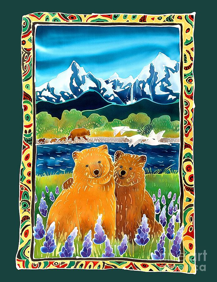 Bear Painting - Sibling Bears Of Katmai by Harriet Peck Taylor