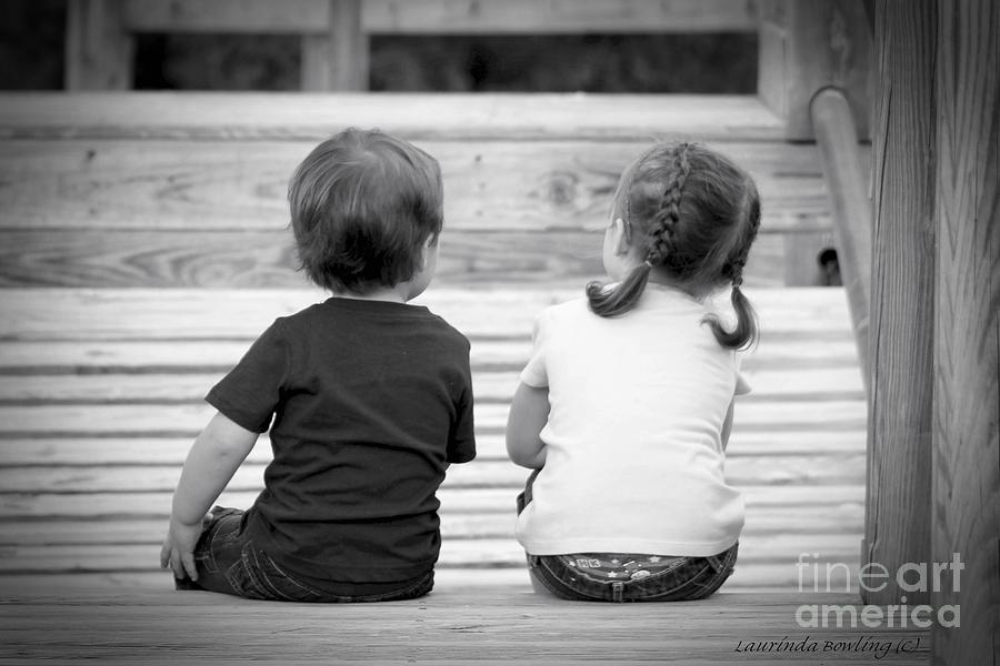 Children Photograph - Siblings by Laurinda Bowling