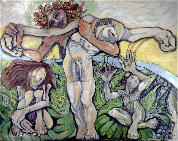 Painting Painting - Sic Transit Gloria Mundi.  by Michelle Spiziri