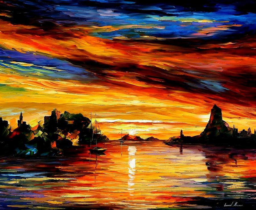 Afremov Painting - Sicily - Catania by Leonid Afremov
