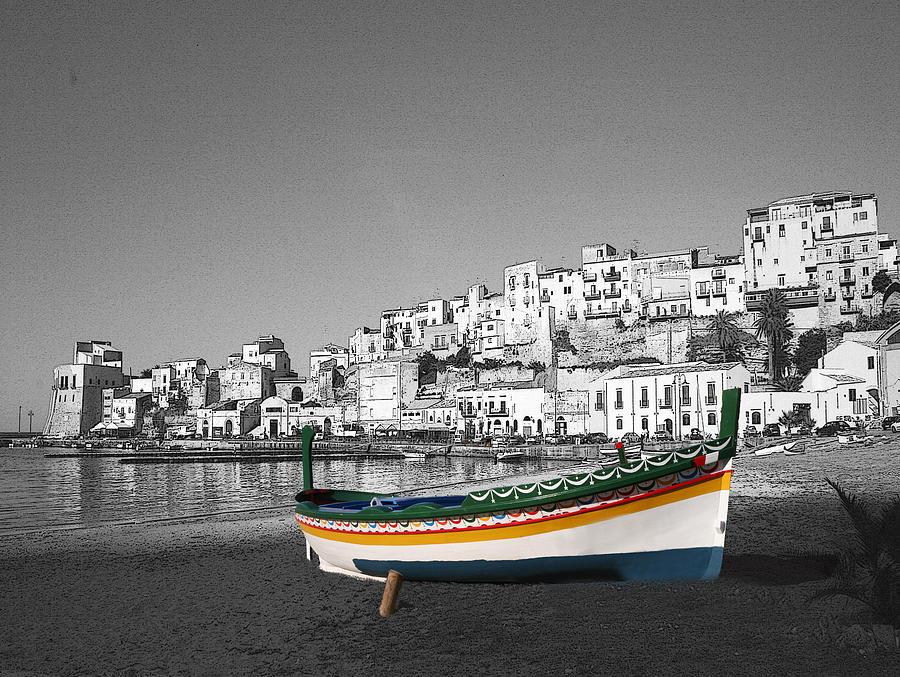 Fishing Photograph - Sicily Fishing Boat  by Jim Kuhlmann