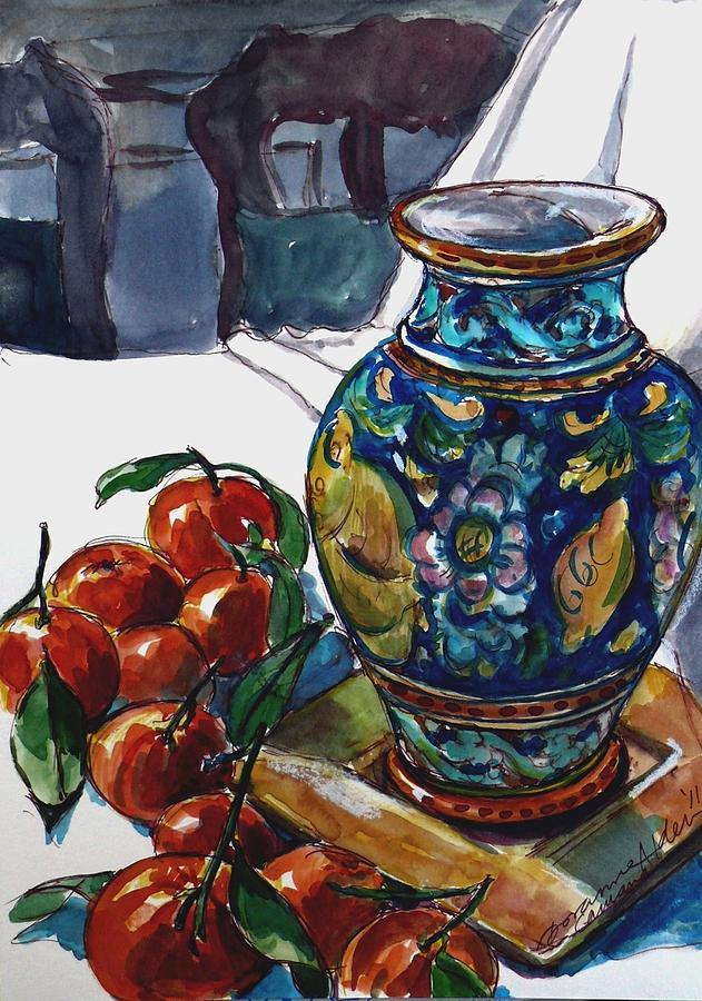 Vase Painting - Sicily Memories by Doranne Alden