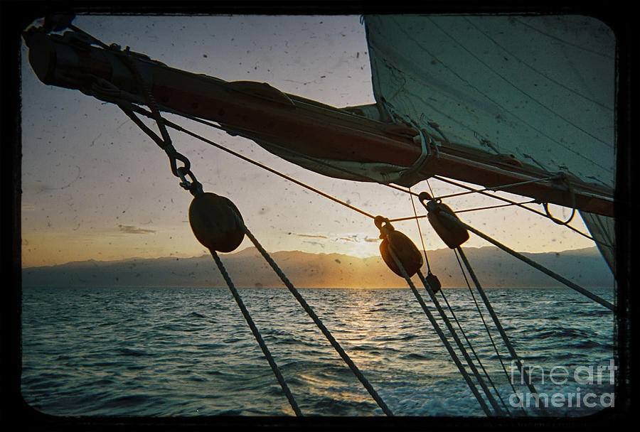 Sicily Sunset Sailing Solwaymaid Photograph by Dustin K Ryan