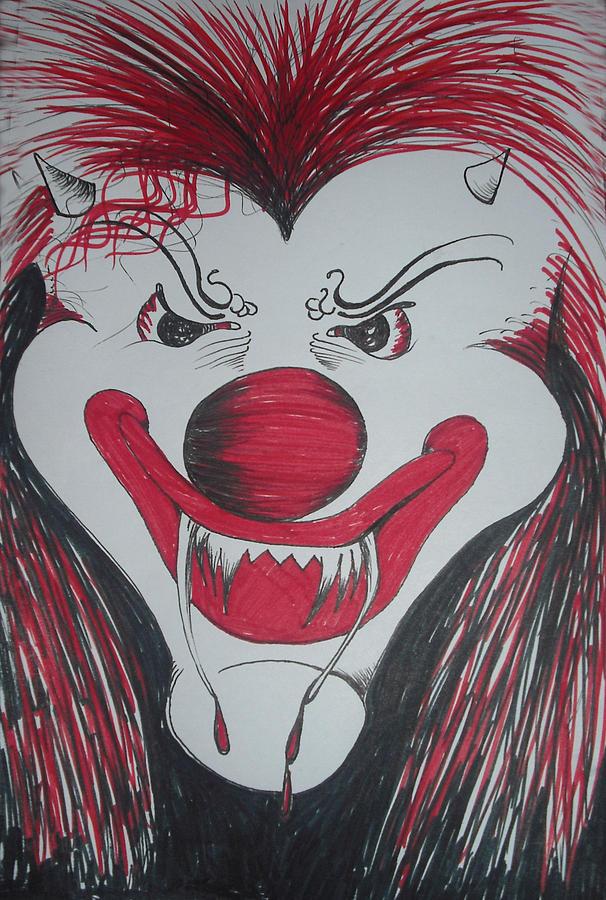Sickclown1 Drawing by Renee Alina Barela