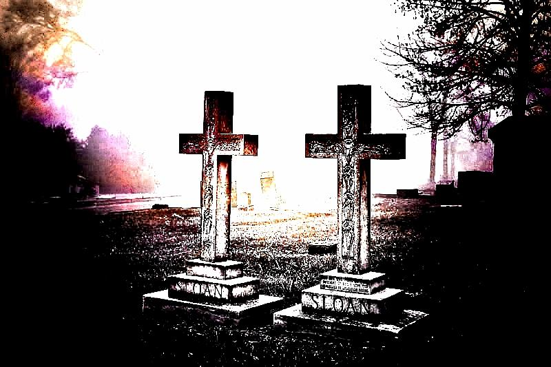 Elmwood Cemetery Photograph - Side By Side by Diane Payne