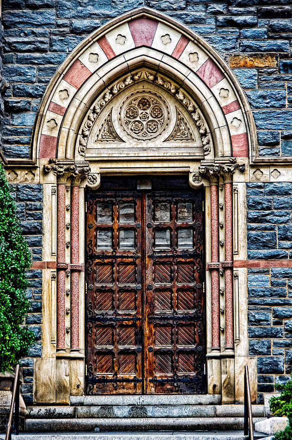 Church Photograph - Side Entrance by Christopher Holmes