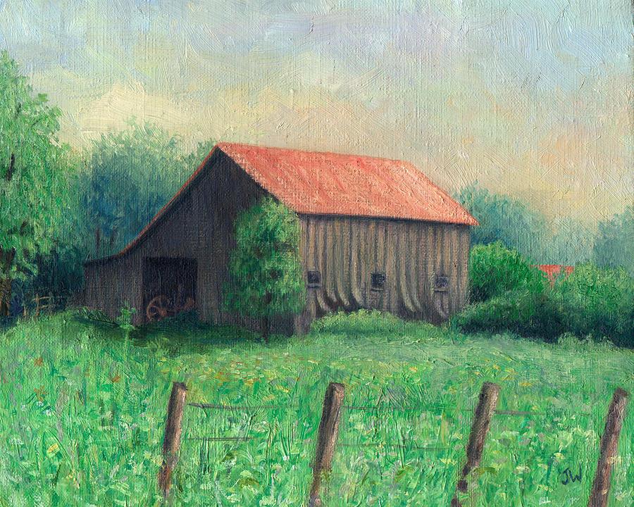 Weathered Barn Painting - Side Of The Road by Joe Winkler