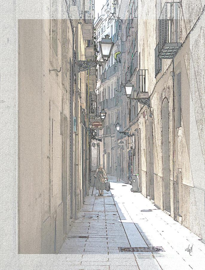 Side Street Digital Art - Side Street by Victoria Harrington