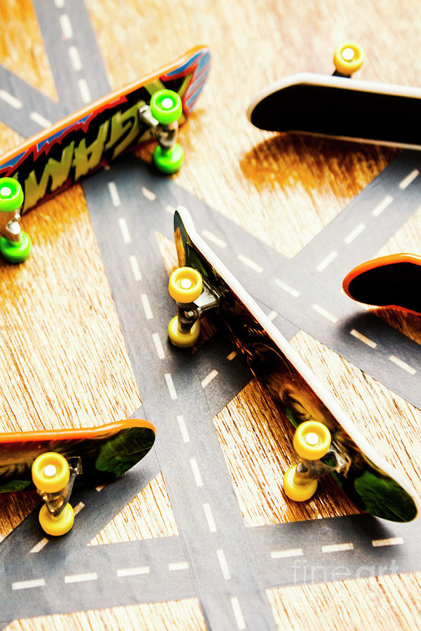 Skateboard Photograph - Side Streets Of Skate by Jorgo Photography - Wall Art Gallery