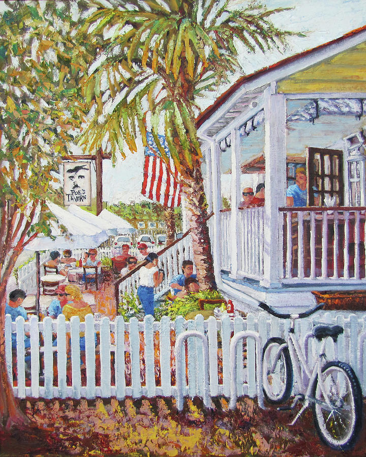 Sullivan's Island Painting - Side View Of Poes by Thomas Michael Meddaugh