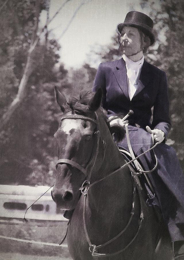 Horse Photograph - Sidesaddle by JAMART Photography