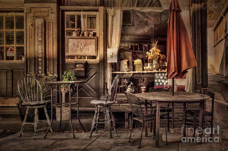 Cafe Photograph - Sidewalk Cafe by Lois Bryan