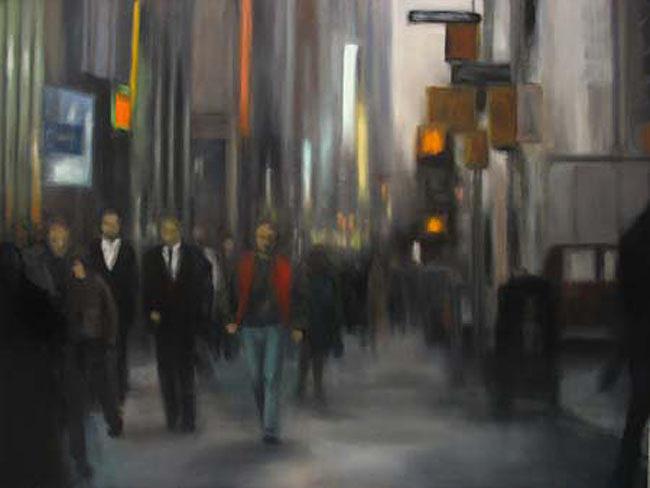 New York City Painting - Sidewalk Series Nyc by Sharon Ramsay
