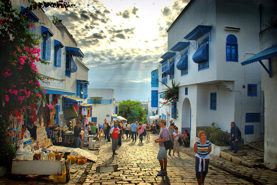 Tunis Photograph - Sidi Bou Said Sunset by Aleksey Napolskih