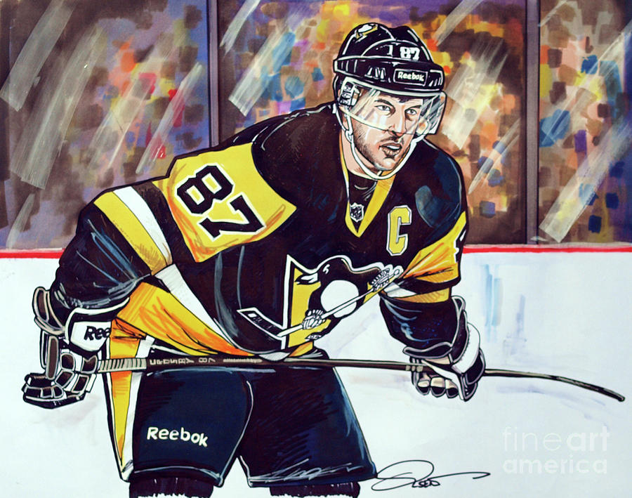 Sidney Crosby 2016 Nhl Stanley Cup Playoffs Drawing By Dave Olsen
