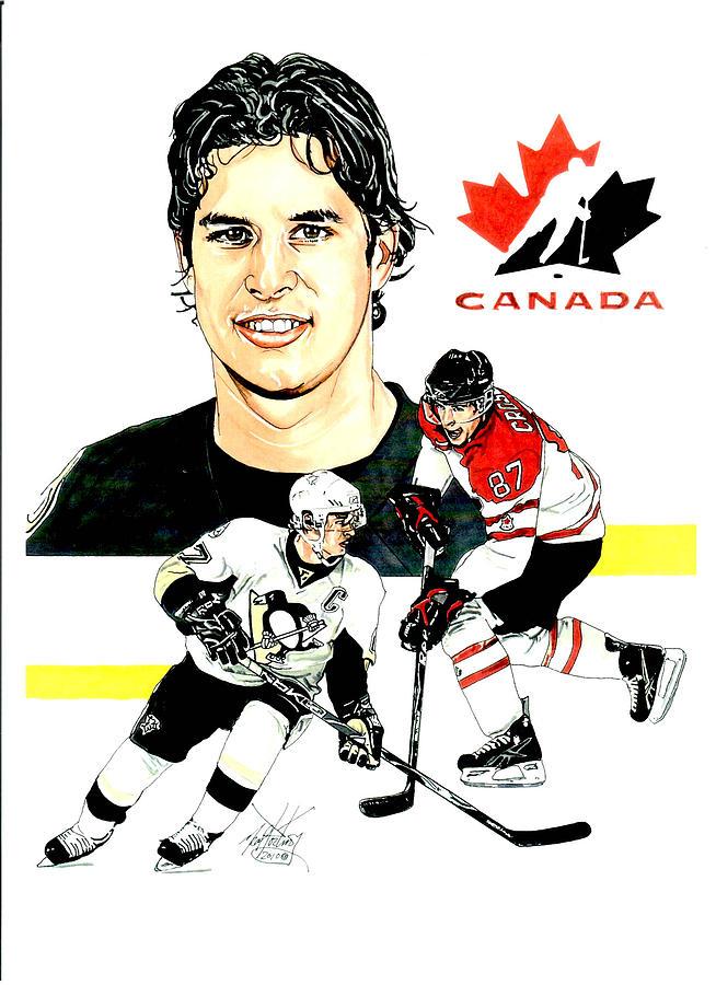 Sidney Crosby Painting - Sidney Crosby by Neal Portnoy