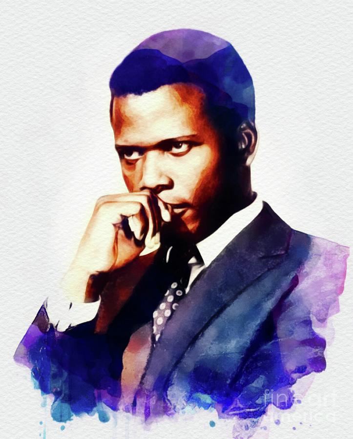 Sidney Poitier, Hollywood Legend Painting