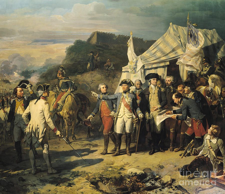 Siege Painting - Siege of Yorktown by Louis Charles Auguste  Couder