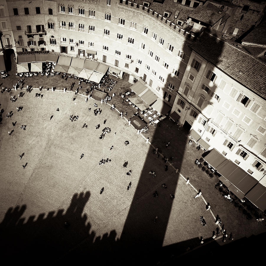 Siena Photograph - Siena From Above by Dave Bowman