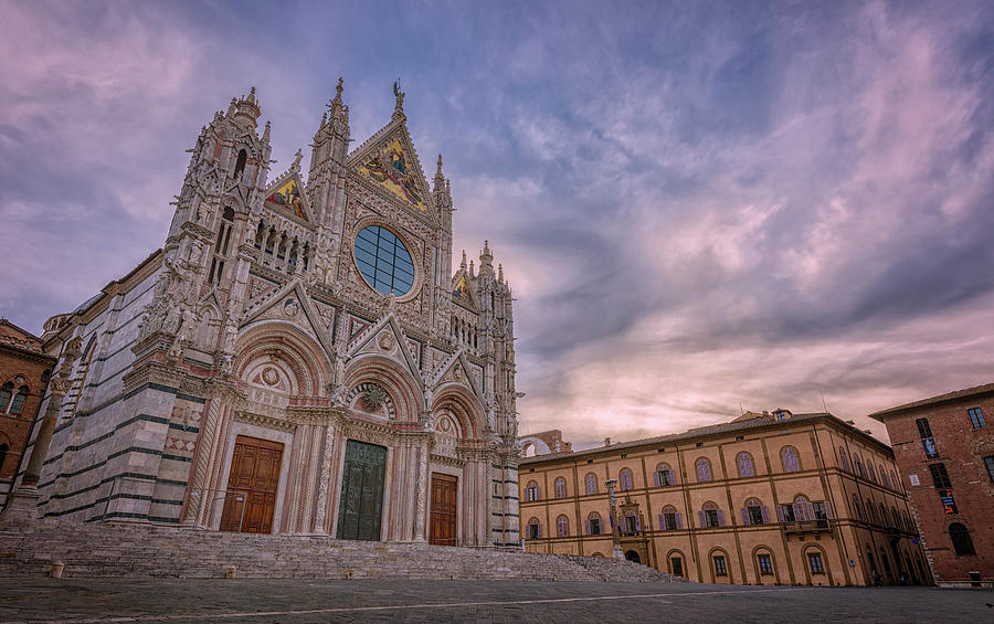 Siena Italy Cathedral Morning Photograph