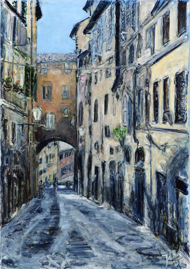 Siena Porta Painting by Joan De Bot