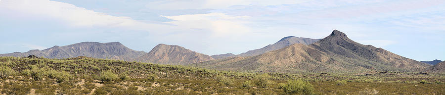 Southwest Photograph - Sierra Estrella Mountains Panorama by Sharon Broucek
