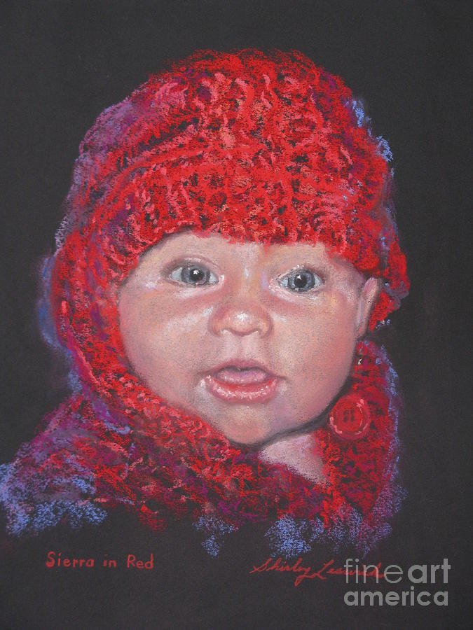 Infant Painting - Sierra In Red by Shirley Leswick