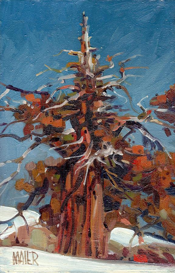 Sierra Painting - Sierra Juniper by Donald Maier